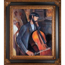 The Cellist Modigliani Framed Original Painting