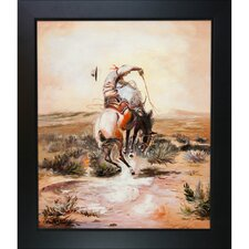 A Slick Rider Russell Framed Original Painting