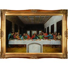 The Last Supper Da Vinci Framed Original Painting