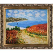 Meadow Road to Pourville, 1882 Monet Framed Original Painting