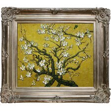 Branches Of An Almond Tree In Blossom Van Gogh Framed Original Painting in Yellow