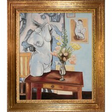 Greek Torso with Flowers Matisse Framed Original Painting