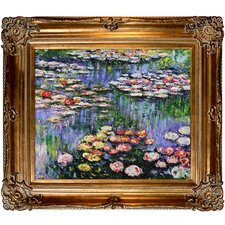 Water Lilies (Pink) Monet Framed Original Painting