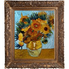 Sunflower Collage (artist interpretation) Van Gogh Framed Original Painting