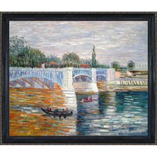 The Seine With the Pont de la Grande Jatte Summer Van Gogh Framed Original Painting