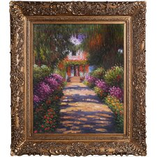 Garden Path at Giverny Monet Framed Original Painting