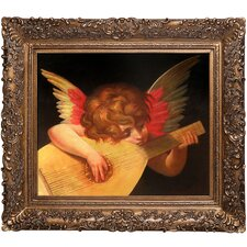 Musical Angel Fiorentino Framed Original Painting