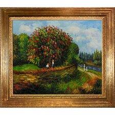 Bluhender Kastanienbaum Renoir Framed Original Painting