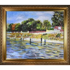 The Banks of the Seine May-June Van Gogh Framed Original Painting