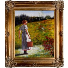 Returning From The Spring Homer Framed Original Painting