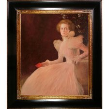 Portrait of Sonja Knips by Klimt Framed Hand Painted Oil on Canvas