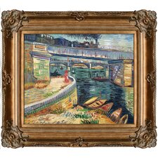 Bridge Across the Seine at Asnieres Summer Hand by Van Gogh Painted Oil on Canvas