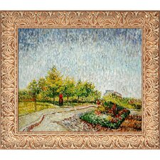 Lane in the Argenson Park at Asnieres Spring by Van Gogh Framed Hand Painted Oil on Canvas