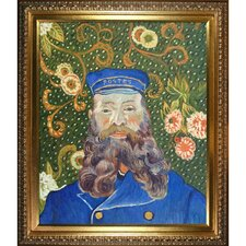 Portrait of the Postman Joseph Roulin Framed Hand Painted Oil on Canvas