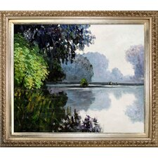 Morning on the Seine Near Giverny by Monet Framed Hand Painted Oil on Canvas