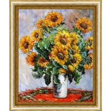 Sunflowers by Monet Framed Hand Painted Oil on Canvas