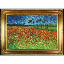 Field of Poppies by Van Gogh Framed Hand Painted Oil on Canvas