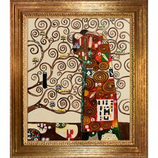 Fulfillment (The Embrace) by Klimt Framed Hand Painted Oil on Canvas
