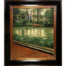 The Yerres, Effect of Rain by Caillebotte Framed Hand Painted Oil on Canvas