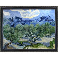 Olive Trees with the Alpilles in the Background by Van Gogh Framed Hand Painted Oil on Canvas