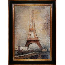 The Eiffel Tower by Seurat Framed Hand Painted Oil on Canvas