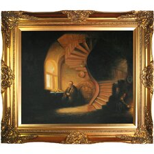 The Philosopher in Meditation by Rembrandt Framed Hand Painted Oil on Canvas