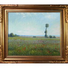 The Fields of Poppies by Monet Framed Hand Painted Oil on Canvas