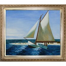 The Martha McKean of Wellfleet by Hopper Framed Hand Painted Oil on Canvas