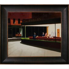 Night Hawks by Hopper Framed Hand Painted Oil on Canvas