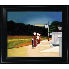 Gas by Hopper Framed Hand Painted Oil on Canvas