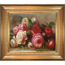 Discarded Roses by Renoir Framed Hand Painted Oil on Canvas