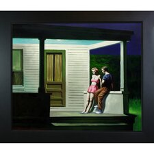 Summer Evening by Hopper Framed Hand Painted Oil on Canvas
