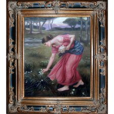 Narcissus by John William Waterhouse Framed Hand Painted Oil on Canvas