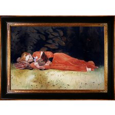 The New Novel by Winslow Homer Framed Hand Painted Oil on Canvas
