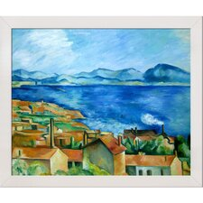 The Gulf of Marseilles by Cezanne Framed Hand Painted Oil on Canvas