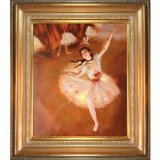 Star Dancer (On Stage) by Degas Framed Hand Painted Oil on Canvas