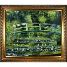 Japanese Bridge by Monet Framed Hand Painted Oil on Canvas