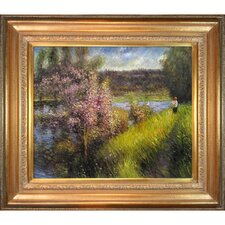 The Seine at Chatou by Renoir Framed Hand Painted Oil on Canvas