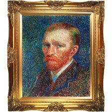 Self Portrait by Van Gogh Framed Hand Painted Oil on Canvas