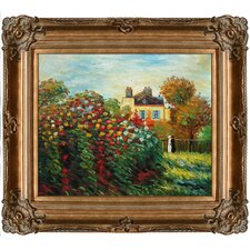 The Artist's Garden by Monet Framed Hand Painted Oil on Canvas