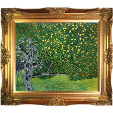 Golden Apple Tree (Luxury Line) by Klimt Framed Hand Painted Oil on Canvas