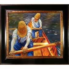 Oarsmen by Caillebotte Framed Hand Painted Oil on Canvas