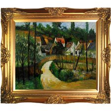 Turn in the Road by Cezanne Framed Hand Painted Oil on Canvas