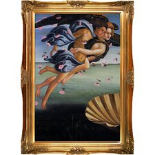 Birth of Venus (left panel) Botticelli Framed Original Painting