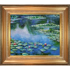 Water Lilies Monet Framed Original Painting