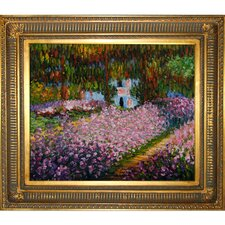 Artist's Garden at Giverny Monet Framed Original Painting