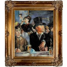 Cafe Concert by Manet Framed Hand Painted Oil on Canvas