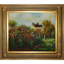 The Artist's Garden Monet Framed Original Painting