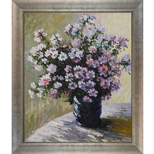 Monet Vase of Flowers Canvas Art