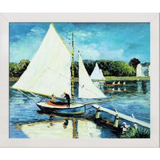 The Sailing at Argenteuil by Monet Framed Hand Painted Oil on Canvas